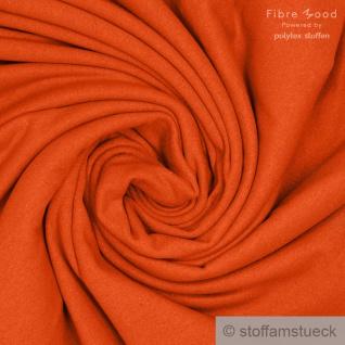 Stoff Baumwolle Single Jersey angeraut mango Sweatshirt weich dehnbar orange