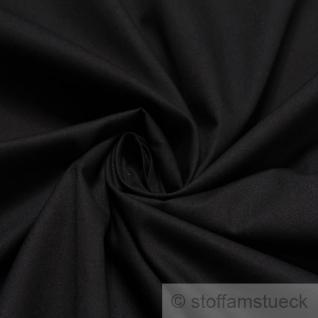Stoff Baumwolle Popeline schwarz Baumwollstoff