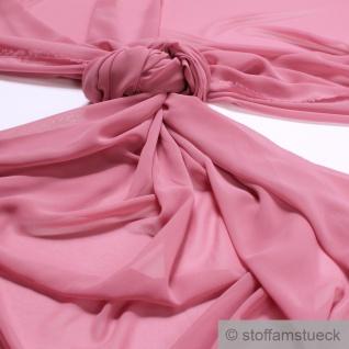 Stoff Polyester Chiffon altrosa transparent leicht weich fallend rosa