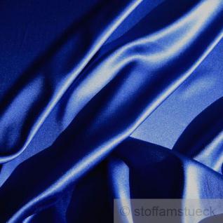 Stoff Seide Elastan Satin kobaltblau weich fließend Stretch elastisch edel