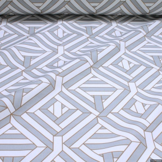 Stoff Baumwolle Rips Geometrie Raute breit Öko-Tex Standard 100 280 cm breit