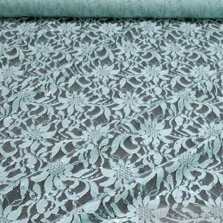 Stoff Polyamid Polyester Elastan Spitze türkis Blume Pailletten fließend