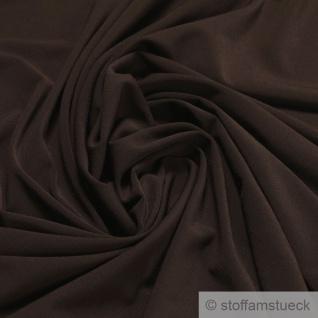 Stoff Polyester Elastan Interlock Jersey braun leicht bi-elastisch