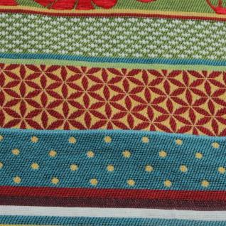 Stoff Baumwolle Jacquard Streifen bunt breit 290 cm breit Punkte Blümchen - Vorschau 5
