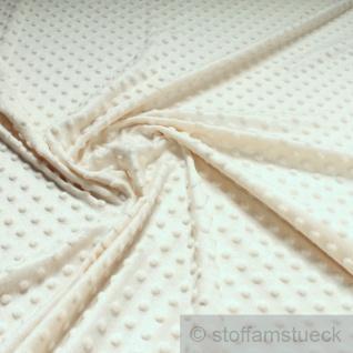 Stoff Polyester Minky Fleece natur Noppen Soft Fleece Mole Fleece Softplüsch