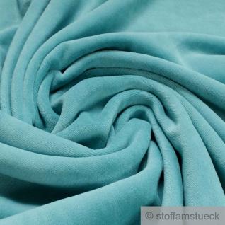 Stoff Baumwolle Polyester Nicki türkis Nicky weich