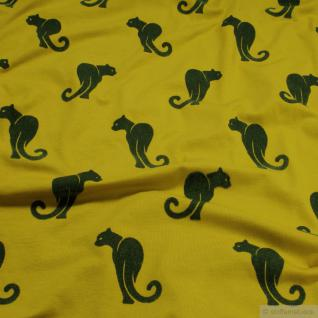 Stoff Baumwolle Single Jersey limettengrün Panther Flock weich Golden Lime
