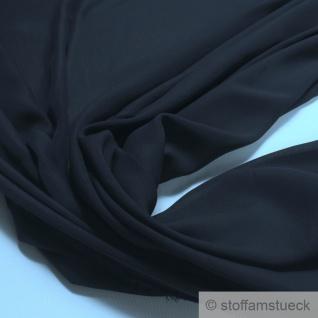 Stoff Polyester Crêpe de Chine leicht nachtblau knitterarm tief dunkelblau