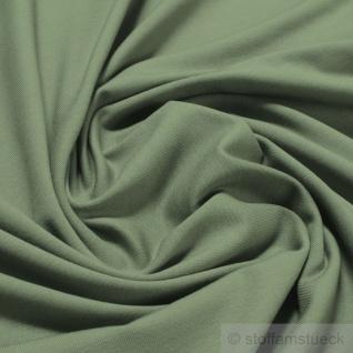 Stoff Baumwolle Elastan Single Jersey palmgrün T-Shirt Tricot weich dehnbar grün