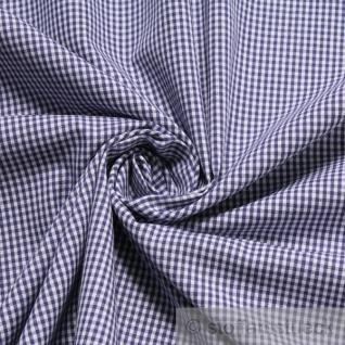 Stoff Baumwolle Vichy Karo klein dunkelblau weiß 1, 5 mm Swafing Canstein