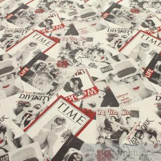 Stoff Baumwolle Polyester Modemagazin Journal Zeitschrift Titelseite Titelblatt