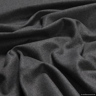 Stoff Polyester Wolle Flanell anthrazit angeraut blickdicht weich Decke
