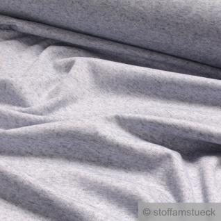 0, 5 Meter Stoff Leinen Polyester Lycra Interlock Jersey hellblau meliert dehnbar - Vorschau 2