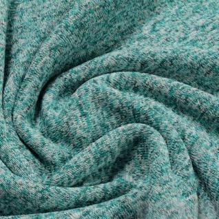 Stoff Polyester Single Jersey angeraut petrol türkis Alpenfleece weich
