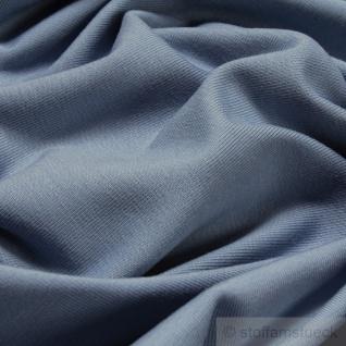 0, 5 Meter Stoff Baumwolle Elastan Single Jersey pastellblau T-Shirt Tricot weich - Vorschau 2