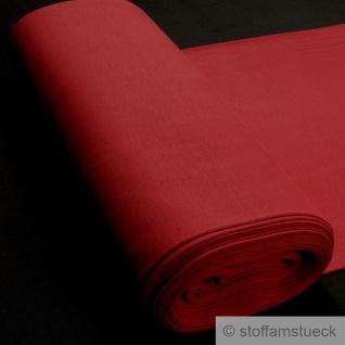0, 5 Meter Stoff Baumwolle Elastan Bündchen kirschrot 45 cm breit rot