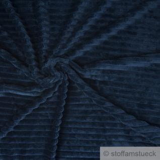 Stoff Polyester Minky Fleece dunkelblau Streifen Soft Fleece Mole Fleece