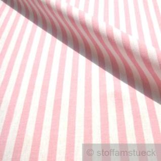 Stoff Baumwolle Bauernstreifen rosa weiß 1 cm Streifen