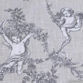 Stoff Ramie Baumwolle Toile de Jouy beige Putte Engel Chinaleinen Grasleinen - Vorschau 3