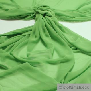 Stoff Polyester Chiffon apfelgrün transparent leicht weich fallend grün