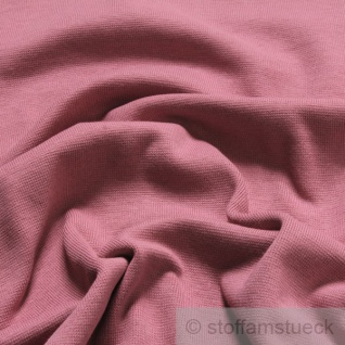 Stoff Baumwolle Interlock Jersey pastellrosa rosa T-Shirt Tricot weich dehnbar - Vorschau 2