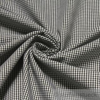 Stoff Baumwolle Vichy Karo klein schwarz weiß 1, 5 mm Vichykaro Swafing Canstein