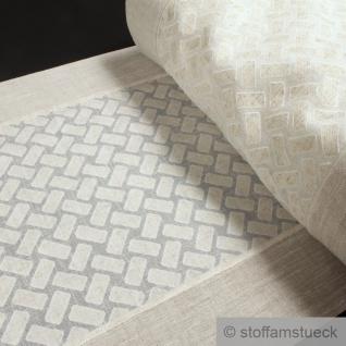 Stoff Tischläufer Polyester Baumwolle Viskose natur Rechteck Schabracke