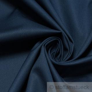 10 Meter Stoff Baumwolle Polyester EOL Köper marine Lycra Mischgewebe kochfest