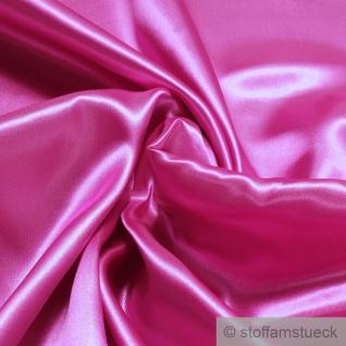 Stoff Polyester Satin pink leicht blickdicht glänzend glatt