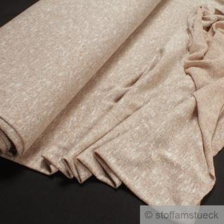 0, 5 Meter Baumwolle Polyester Nylon Lurex Single Jersey beige Glitzer Glitter