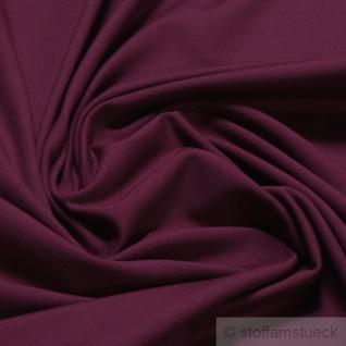 0, 5 Meter Stoff Baumwolle Elastan Single Jersey weinrot T-Shirt weich dehnbar