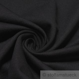 Stoff Baumwolle Single Jersey schwarz angeraut Sweatshirt weich dehnbar