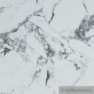 Stoff PVC Kunstleder weißer Marmor wie echt durchzogen mit Einschlüssen - Vorschau 3