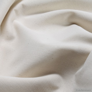 Stoff Baumwolle Leinwand rohweiß 230 cm breit überbreit Nessel Baumwollstoff