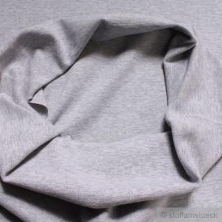 0, 5 Meter Baumwolle Polyester Elastan Bündchen hellgrau meliert 45 cm breit grau