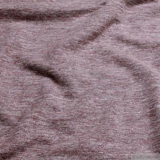 0, 5 Meter Baumwolle Polyester Single Jersey bordeaux angeraut Winter-Sweat - Vorschau 2