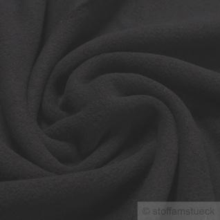 Stoff Baumwolle Fleece schwarz Baumwollfleece reine Baumwolle weich flauschig