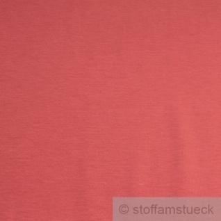 0, 5 Meter Stoff Baumwolle Interlock Jersey koralle T-Shirt Tricot weich dehnbar - Vorschau 2