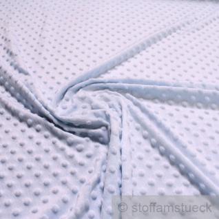 Stoff Polyester Minky Fleece hellblau Noppen Soft Fleece Mole Fleece Softplüsch