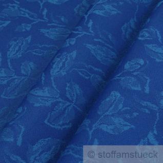 Stoff Polyester Jacquard Blätter kobaltblau 25.000 Martindale wasserdicht