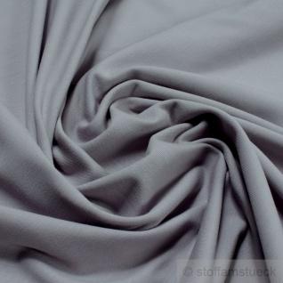 Stoff Baumwolle Elastan Single Jersey hellgrau T-Shirt Tricot weich dehnbar