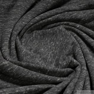 0, 5 Meter Baumwolle Polyester Elastan Single Jersey grau angeraut Winter-Sweat - Vorschau 3
