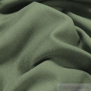Stoff Baumwolle Elastan Single Jersey palmgrün T-Shirt Tricot weich dehnbar grün - Vorschau 2