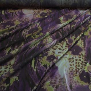 Stoff Polyester Chiffon Explosion grün lila bunt leicht transparent