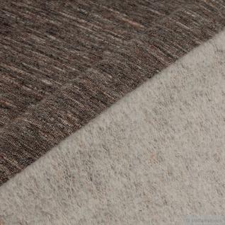 0, 5 Meter Baumwolle Polyester Elastan Single Jersey beige angeraut Winter-Sweat - Vorschau 4