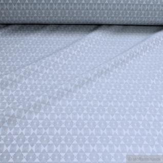 Stoff Baumwolle Polyester Jacquard Raute hellgrau ganz leicht glänzend