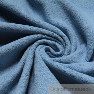 Stoff Baumwolle Polyester Fleece pastellblau Baumwollfleece Plüsch kuschelig