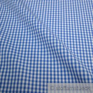 Stoff Baumwolle Vichy Karo blau weiß 2, 5 mm Swafing Canstein kariert