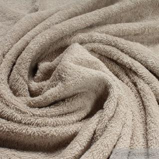 Stoff Baumwolle Frottee beige Frotté zweiseitig Baumwollstoff weich