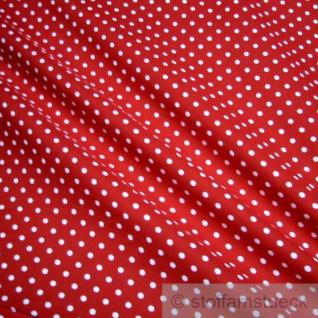 Stoff Baumwolle Punkte klein rot weiß Tupfen Baumwollstoff